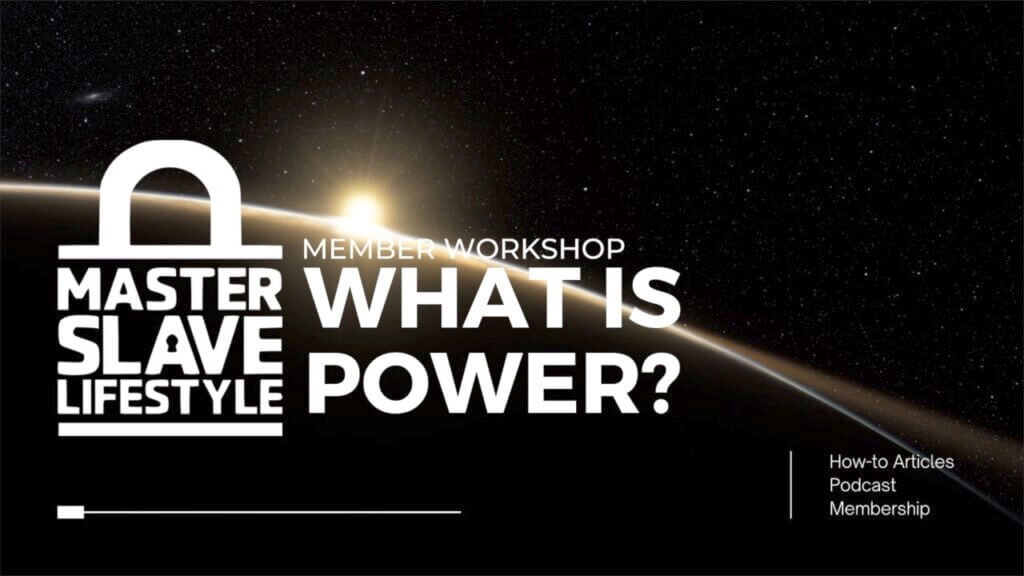 Screenshot of a Master/slave workshop - what is power.