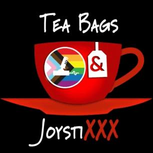 Logo of the Tea Bags and Joystixxx podcast